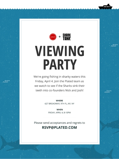 Shark Tank Email Invitation